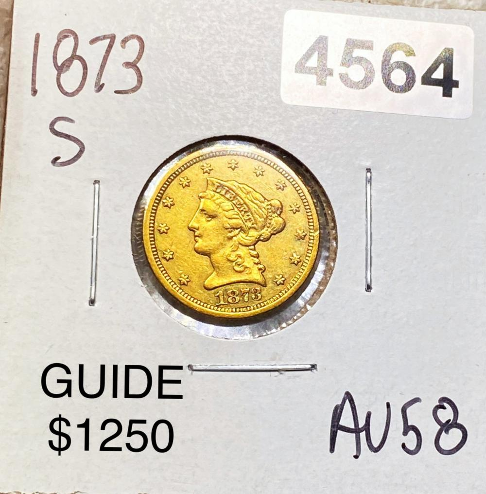 1873-S $2.50 Gold Quarter Eagle CHOICE AU