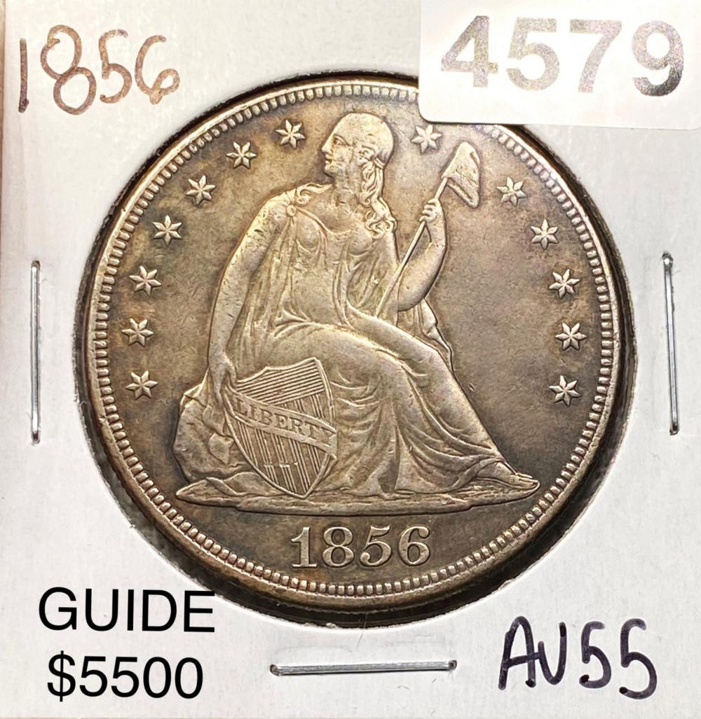 1856 Seated Liberty Dollar CHOICE AU