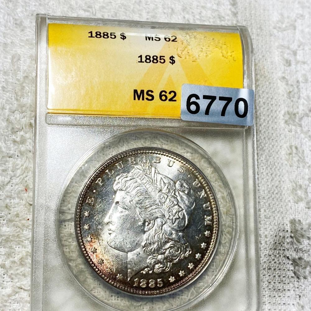 1885 Morgan Silver Dollar ANACS - MS62