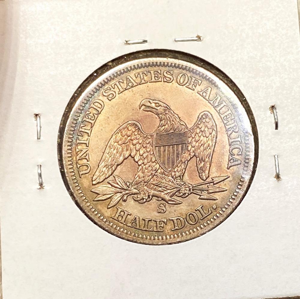 1855-S Seated Half Dollar CHOICE AU