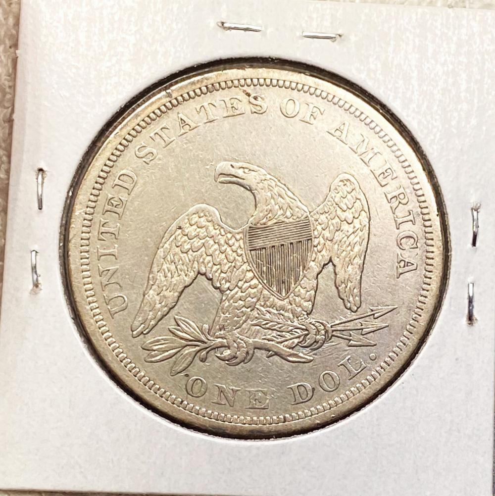 1862 Seated LIberty Dollar CHOICE AU