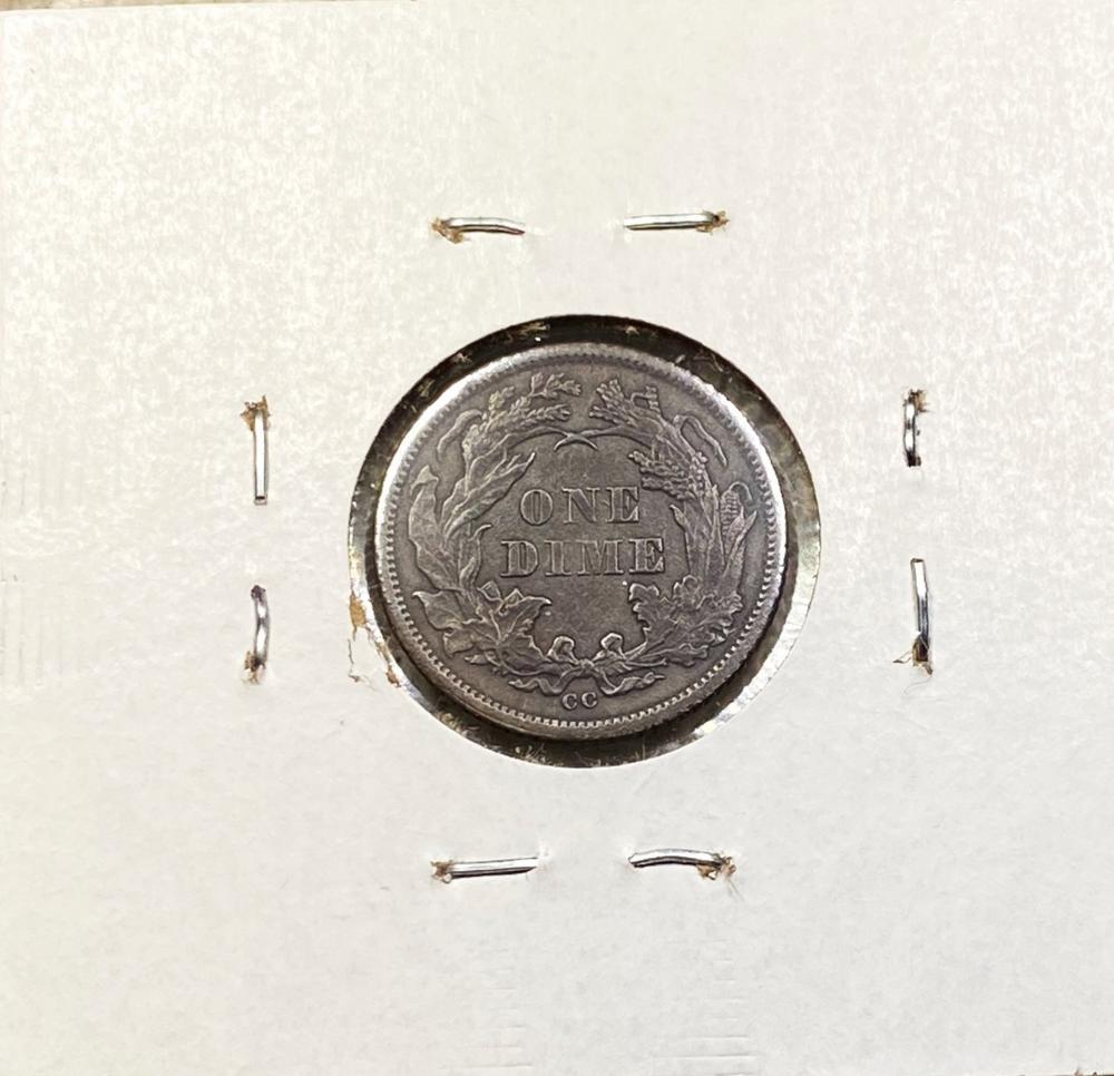 1874-CC Seated Liberty Dime CHOICE AU