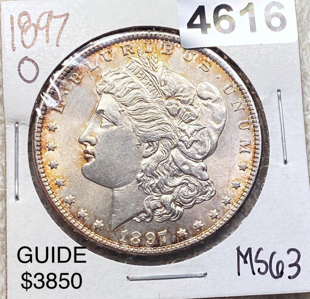 1897-O Morgan Silver Dollar CHOICE BU