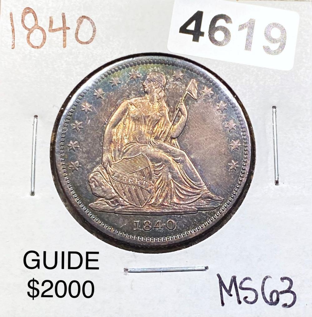 1840 Seated Half Dollar CHOICE BU