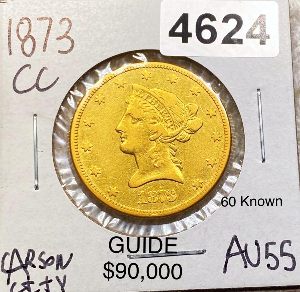 1873-CC $10 Gold Eagle CHOICE AU