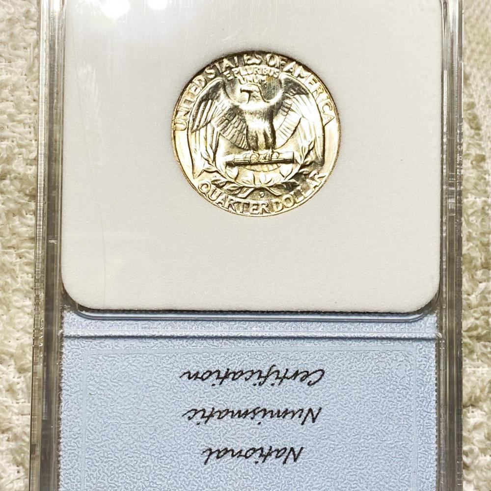 1954-D Washington Silver Quarter NNC - MS67+