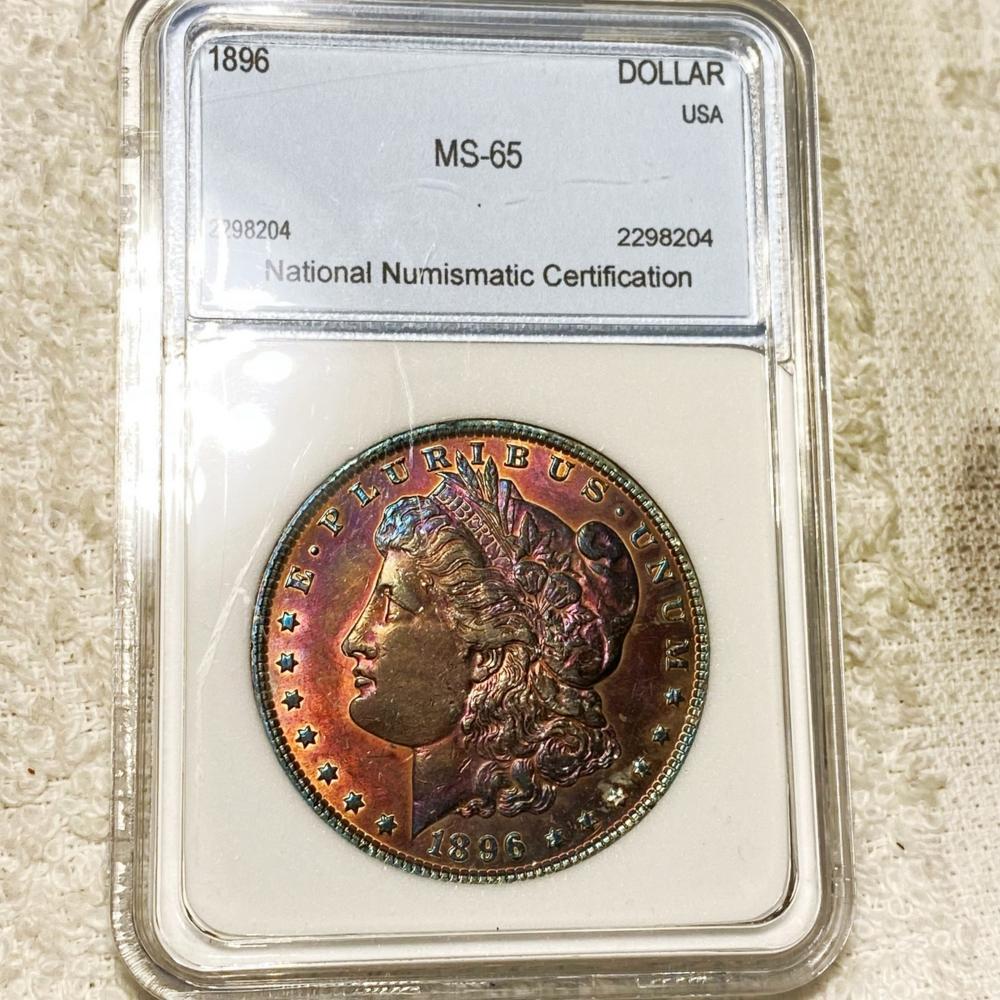 1896 Morgan Silver Dollar NNC - MS65
