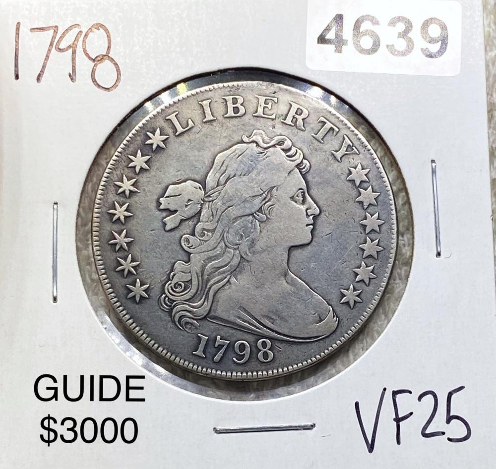 1798 Draped Bust Half Dollar NICELY CIRCULATED