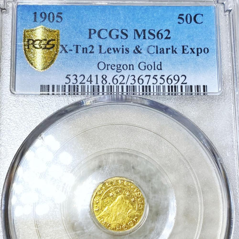 1905 Lewis & Clarke Gold 50C PCGS - MS62