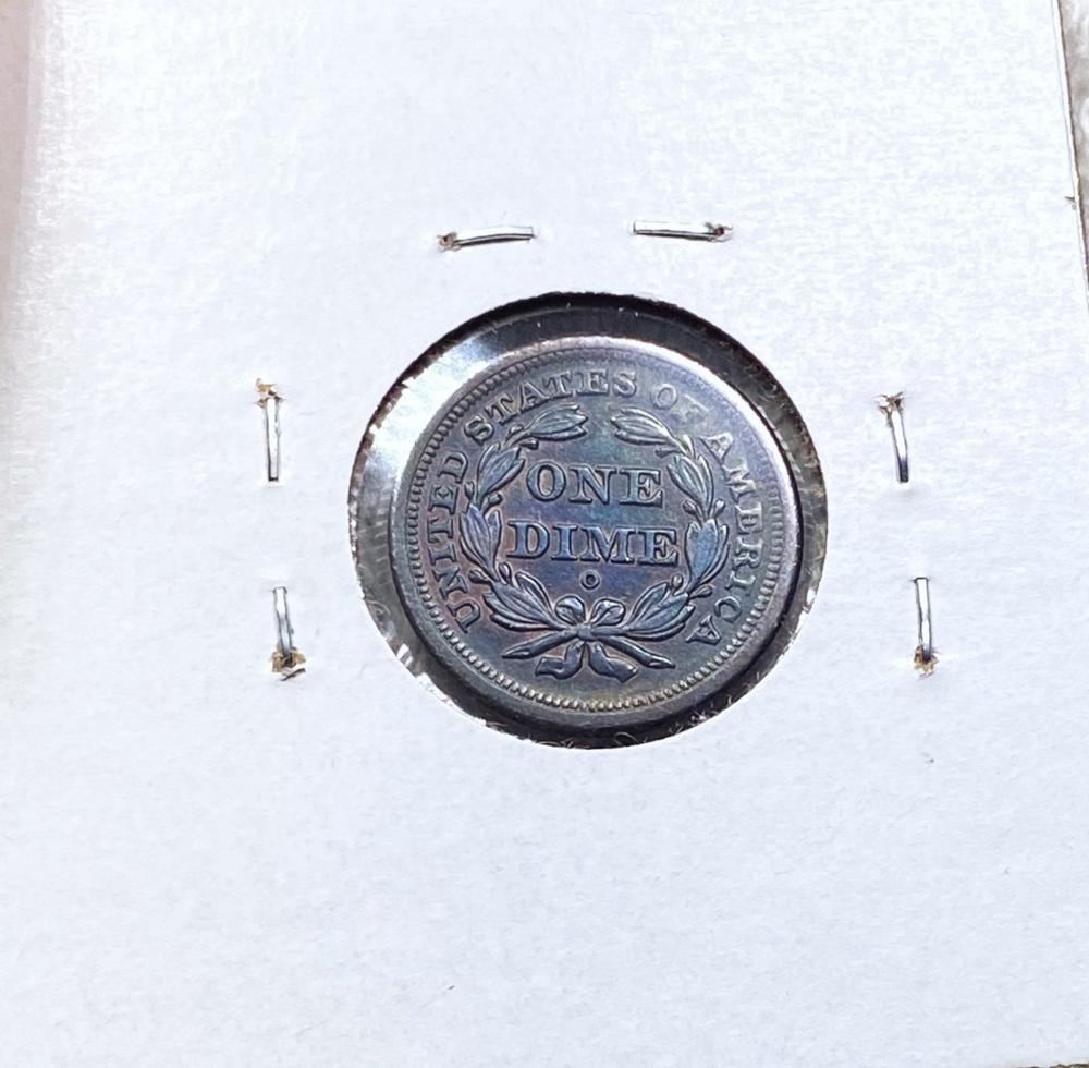 1849-O Seated Liberty Dime CHOICE BU