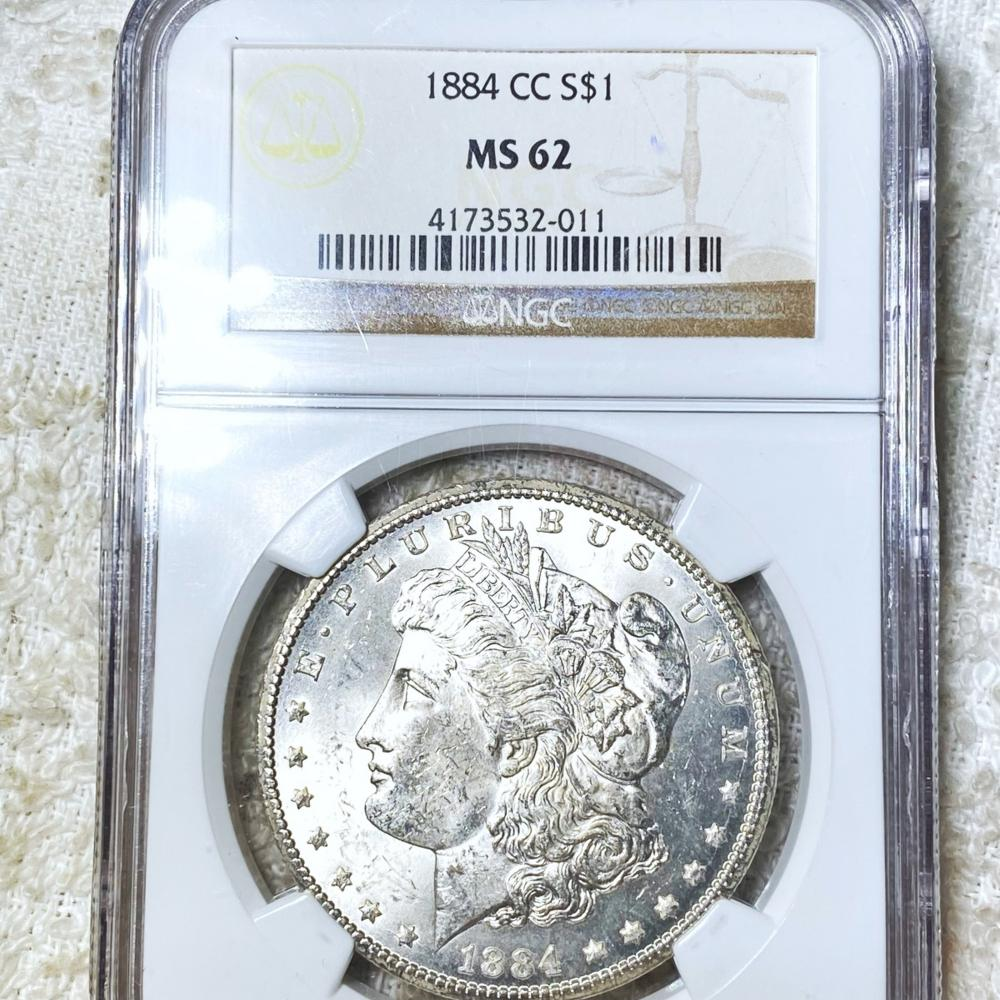 1884-CC Morgan Silver Dollar NGC - MS62