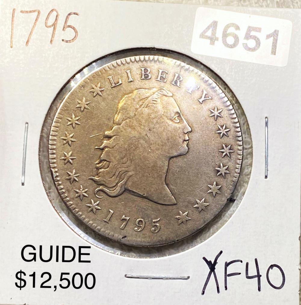 1795 Flowing Hair Half Dollar LIGHT CIRC