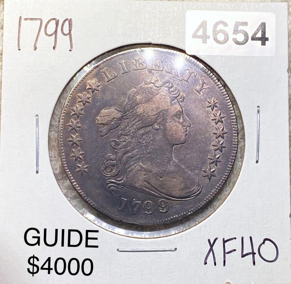 1799 Draped Bust Dollar LIGHT CIRC