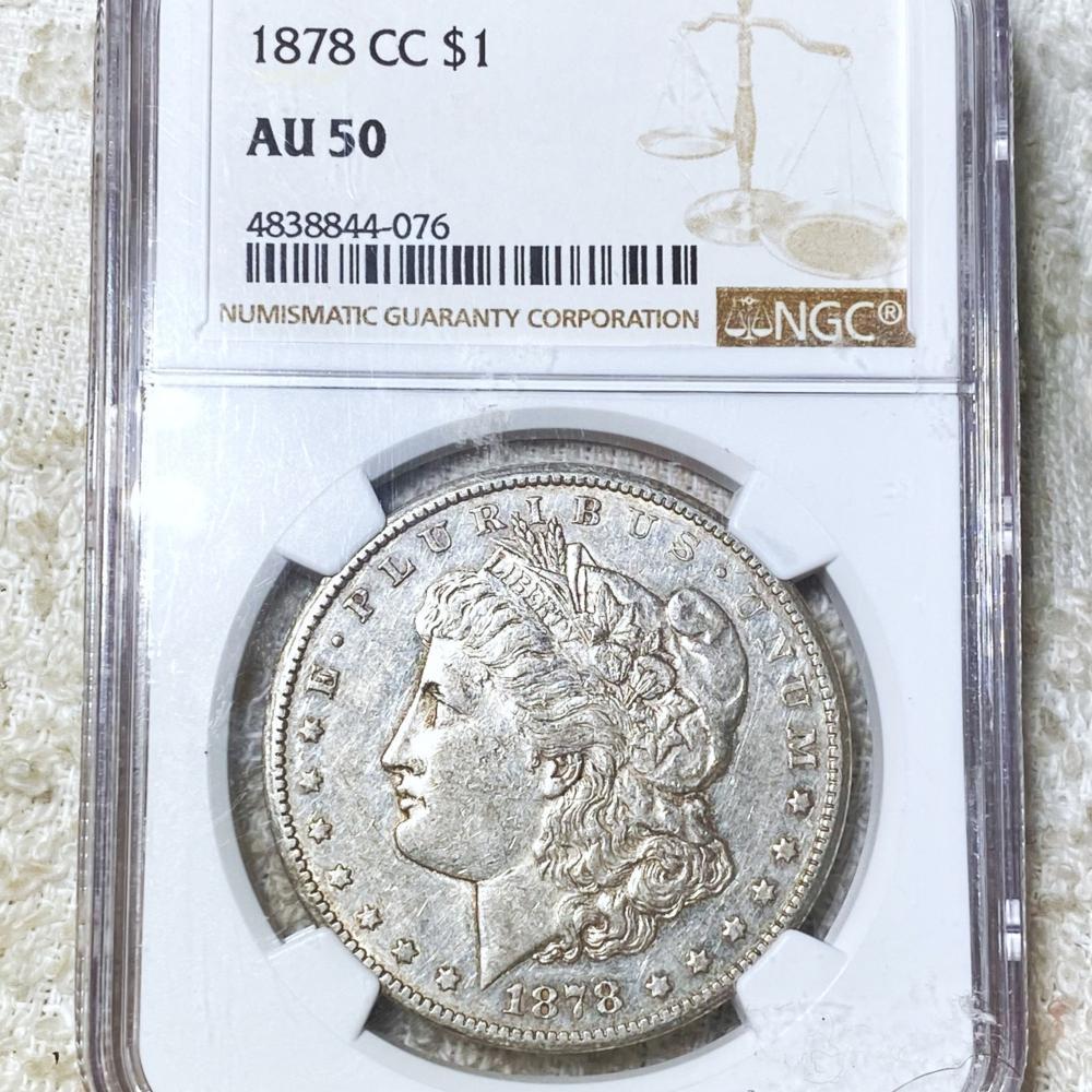 1878-CC Morgan Silver Dollar NGC - AU50