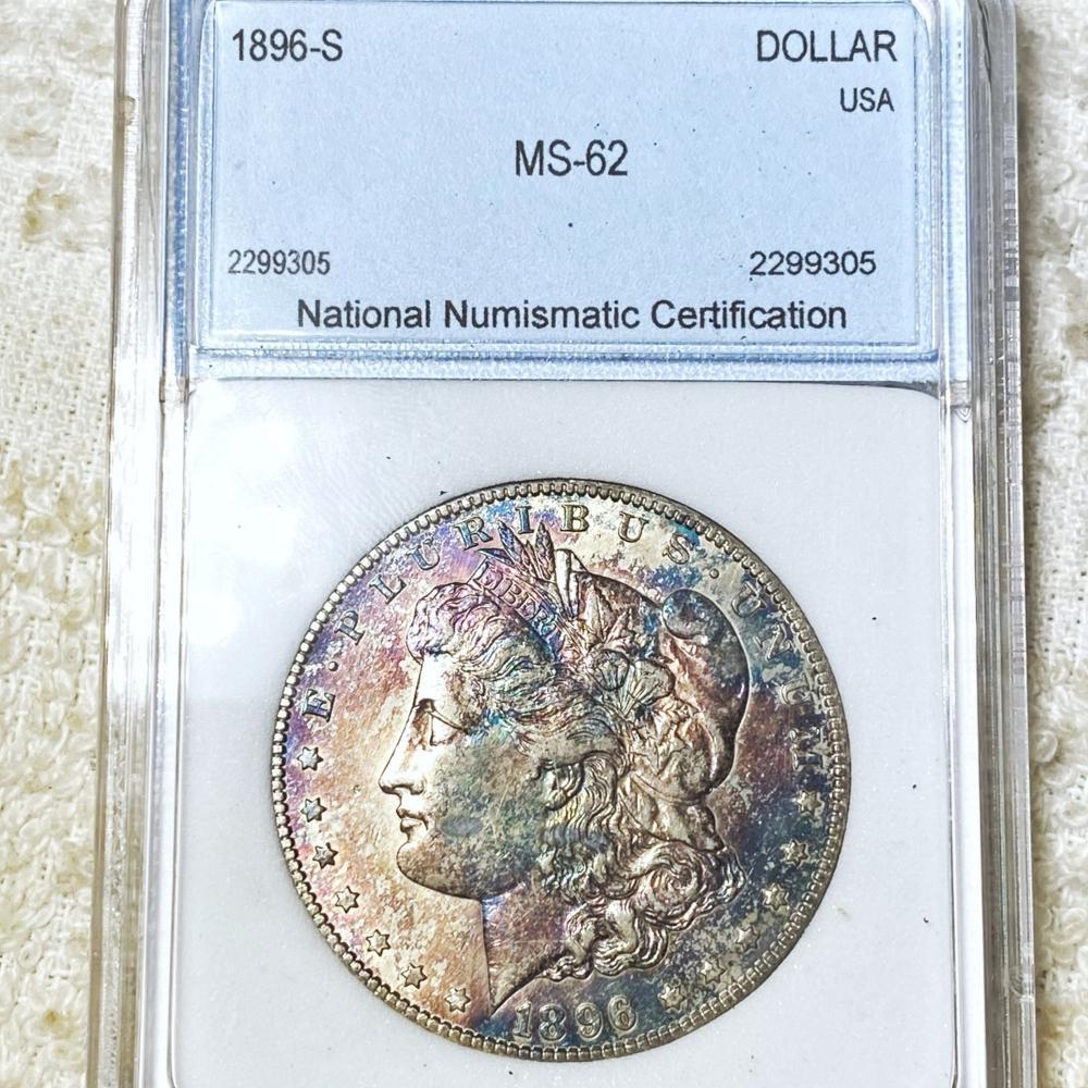 1896-S Morgan Silver Dollar NNC - MS62