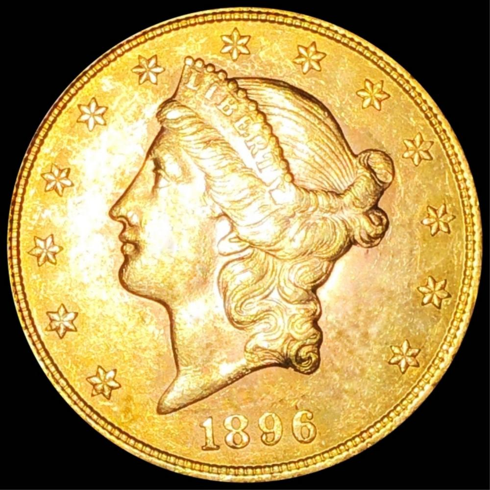1896 $20 Gold Double Eagle UNCIRCULATED