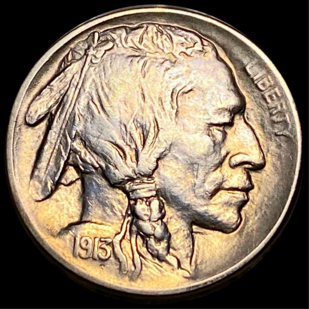 1913-S TY2 Buffalo Head Nickel CLOSELY UNC