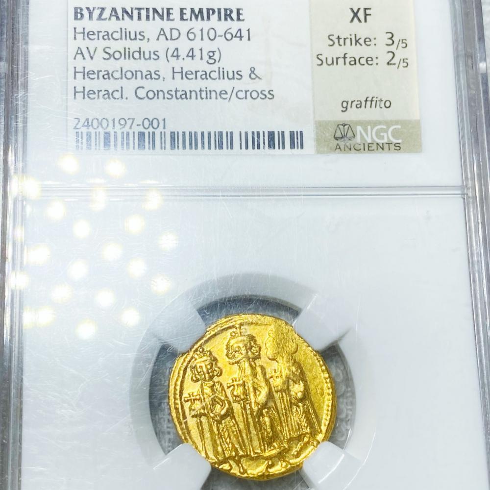 AD 610-641 Byzantine Empire Gold AV Solidus NGC-XF