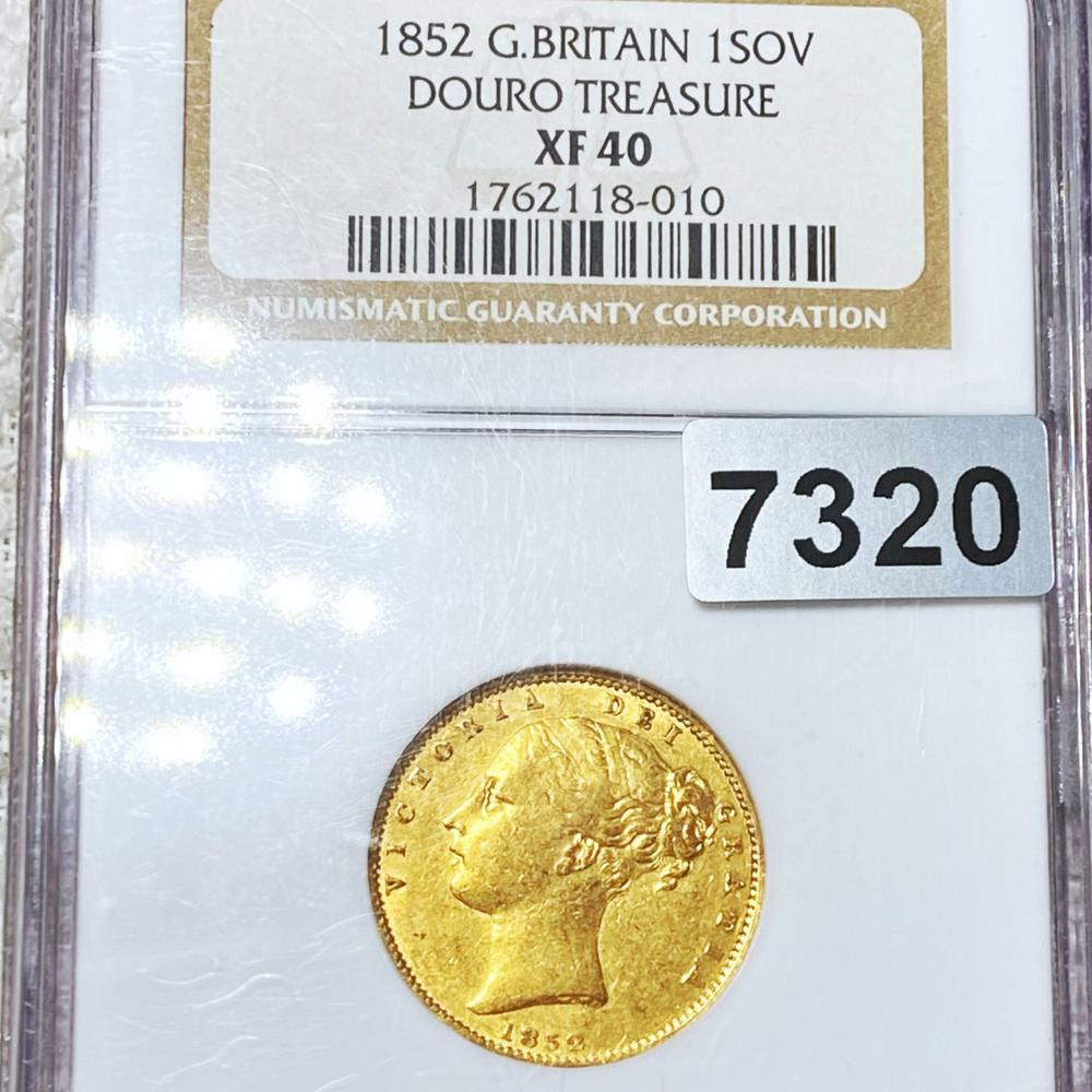 1852 G. Britain Gold Sovereign NGC - XF40