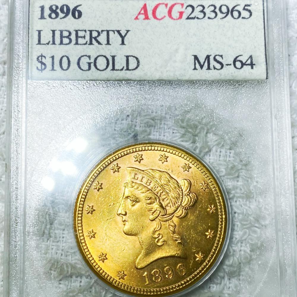 1896 $10 Gold Eagle ACG - MS64