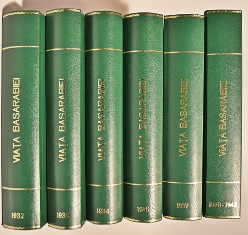 Viața Basarabiei-revista lunară, 6 volume/ The life of Basarabie- monthly edition, 6 volumes