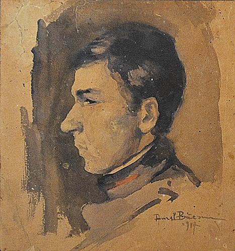Aurel Băeșu (1896 - 1928) Portret de tânăr/Youngman Portrait