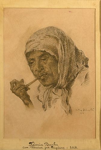 Octav Băncilă (1872 - 1944) Țigancă cu pipa/ Gipsy Woman with pipe