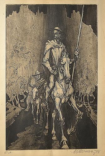 Marcel Chirnoagă (1930 - 2008) Don Quijote/Don Quijote