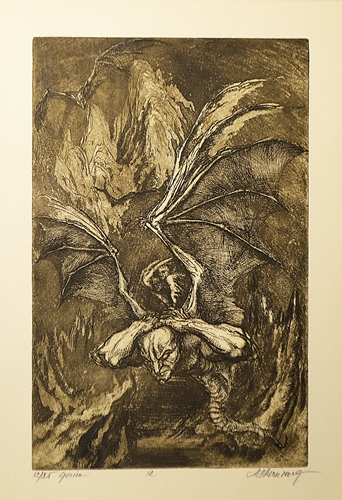 Marcel Chirnoagă (1930 - 2008) Geryon , fiul lui Chrysaor și Callirrhoe/ Geryon , son of Chrysaor and Callirrhoe