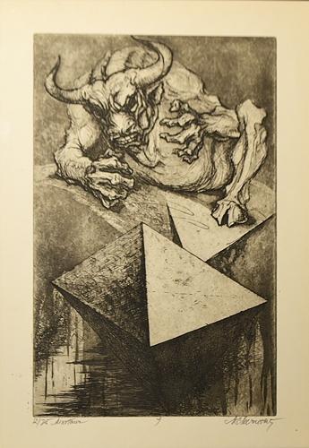 Marcel Chirnoagă (1930 - 2008) Minotaur/ Minotaur