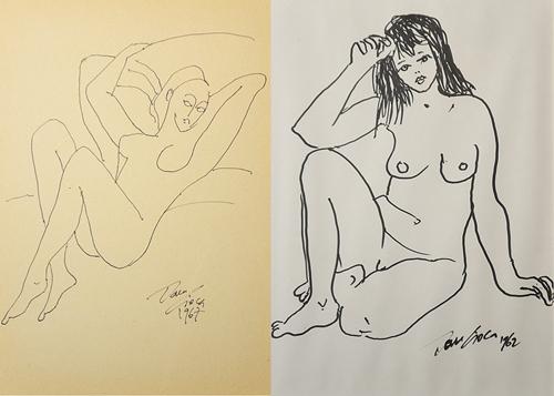 Dan Cioca (n. 1939) Nud așezat/ Seated Nude