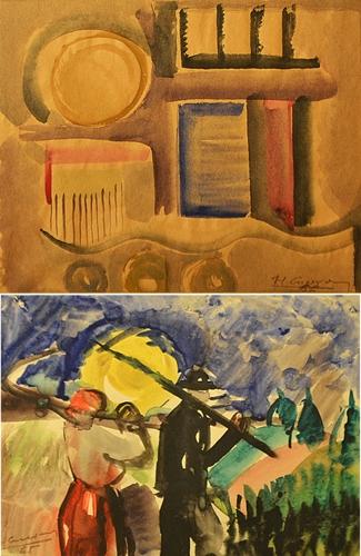 Horia Cucerzan (1938 - ) Două compoziții/ Two compositions