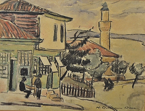 Niculina Dona Delavrancea (1890-1981) Peisaj cu moschee /Landscape with mosque