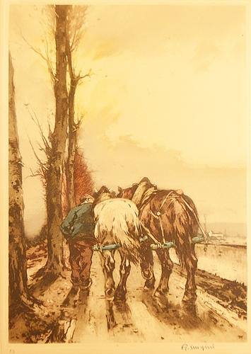 Ferdinand Jean Luigini Fermier cu cai de tracțiune / Farmer with horses
