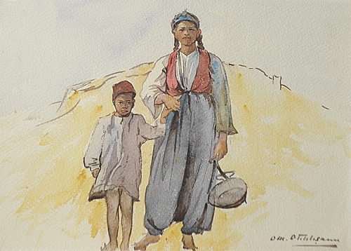 Otilia Oteteleșanu Michail (1885 - 1973) Tătăroaica cu copil/ Tatar woman with child