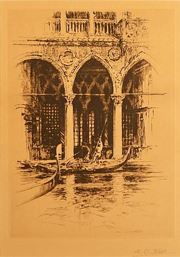 A. C. Webb Veneția- Canal grande - Venice- Canal Grande