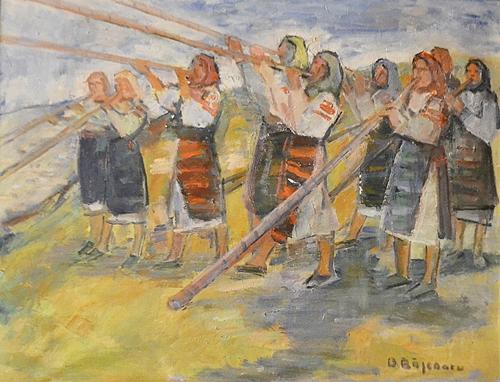 Dan Băjenaru Femei cu bucium / Women with alpenhorns