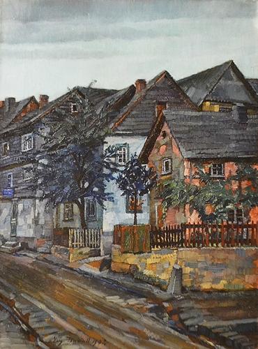Bandell Eugenie (1863 - 1918) Înserare la Schadeck / Nightfall at Schadeck