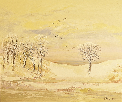 Nicolae Blei (1949) Peisaj în amurg / Landscape in the twilight