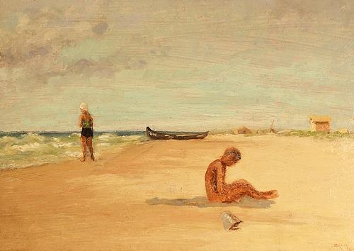 Otto Briese (1889-1963) La plajă / At the beach