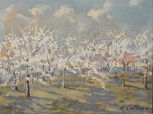 George Catargi (1893 - 1962 ) Livada înflorită/ The blossomed orchard