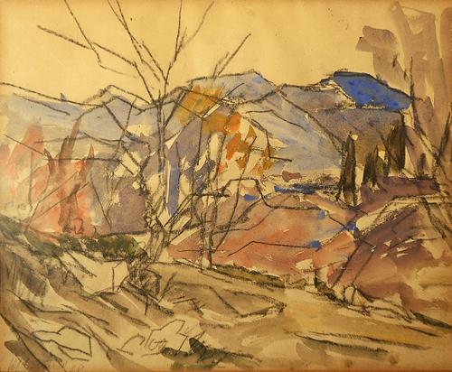 Henri H. Catargi (1894-1976) Peisaj pe Valea Doftanei/ Landscape at Doftana Valley