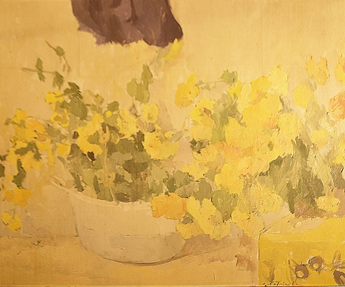 Gabriel Catrinescu (1943 -) Flori galbene / Yellow Flowers