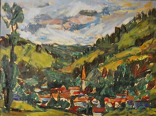 Aurel Ciupe (1900-1988) Peisaj din Ardeal / Landscape from Ardeal