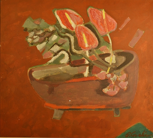 Brăduț Covaliu (1924 - 1991) Flori roșii / Red Flowers