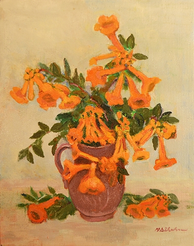 Maria Dăbuleanu Vas cu flori portocalii / Orange flowers in a vase