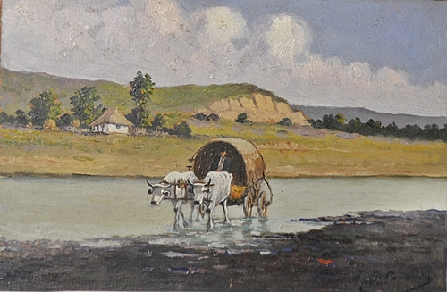 Ion Doboșariu Trecând râul/ Crossing the river