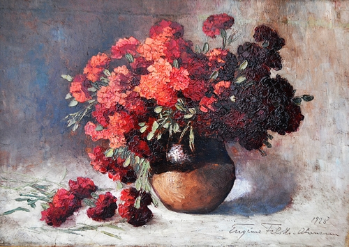 Eugenia Filotti Atanasiu (1880 - 1968) Vas cu flori/ Vase with flowers