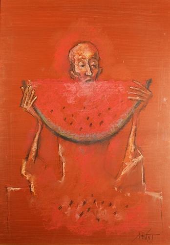 Ion Iancuț (1950 - ) Omul care mânancă pepene / The man eating watermelon