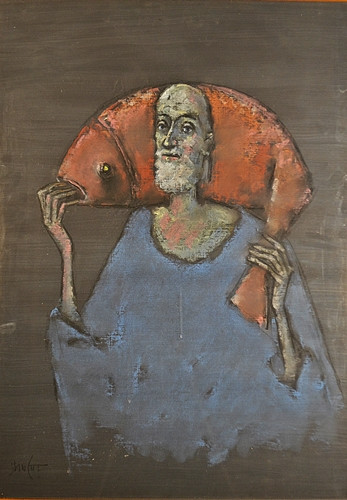 Ion Iancuț (1950 - )  Pescarul / Fisherman